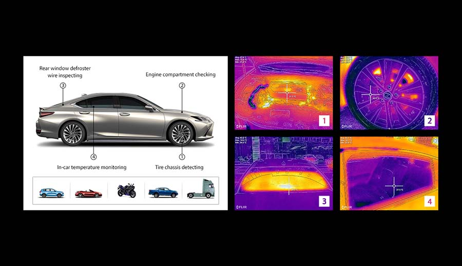 Thermal checking on vehicles